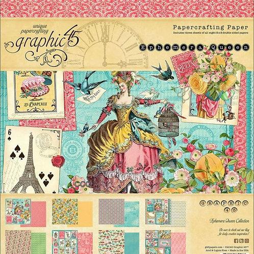 Graphic 45 Ephemera Queen 8x8 Collection Pad