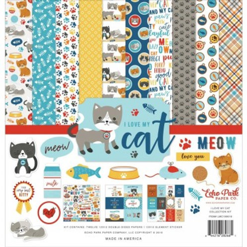 Echo Park - I Love My Cat 12x12 Collection Pack