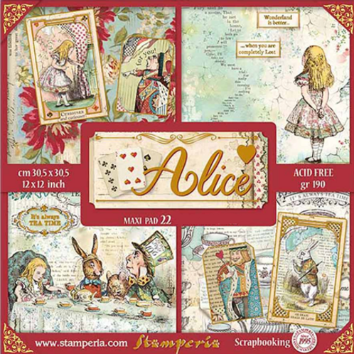 Stamperia - Alice Gold - 12x12 Collection Pack