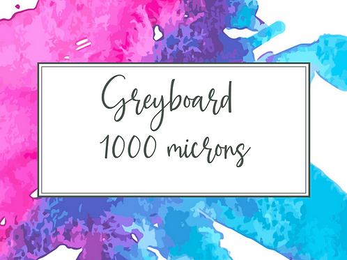 Cal Summers - Greyboard 1000 micron A4 sheets - 5/10/15/20 sheet bundles