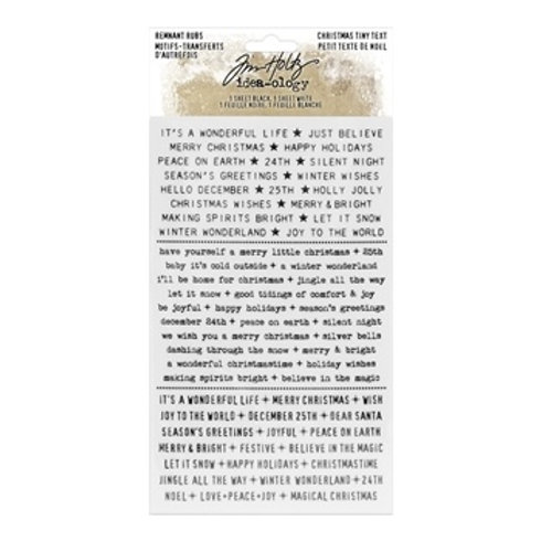 Tim Holtz - Remnant Rubs Christmas Tiny Text - TH94096