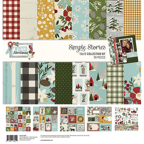 Simple Stories - Winter Farmhouse - 12x12 Collection Kit