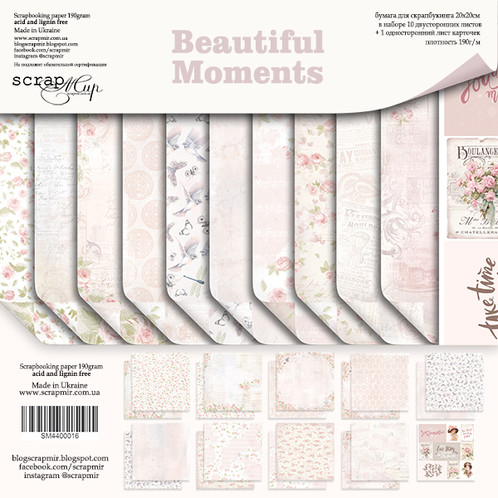 Beautiful Moments Scrapbooking Kit and Die Cut Pack