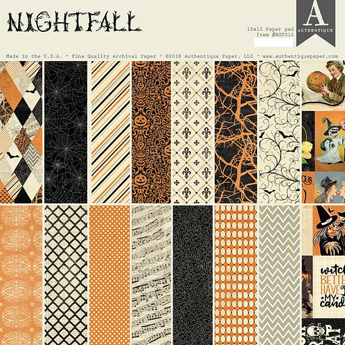 Authentique - Nightfall - 12x12 paper pad