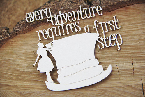 Scrapiniec - Wonderland - Every Adventure - Alice chipboard