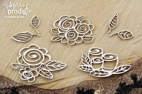 Spring Prodigy - Roses - Chipboard