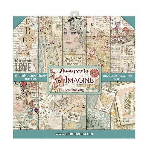 Stamperia  - Imagine - 8 x 8 Paper Pad
