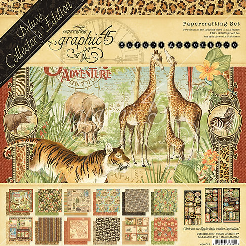 Graphic 45 - Safari Adventure - Deluxe Collectors Edition