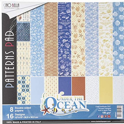 Ciao Bella - Under the Ocean - 12x12 patterns pad