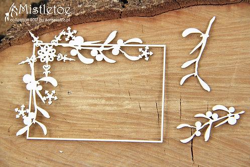 Scrapiniec - Mistletoe Rectangle Frame chipboard