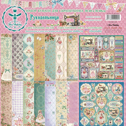 Bee Shabby - Needlewoman 12x12 collection kit