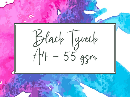 A4 Tyvek - Black one side