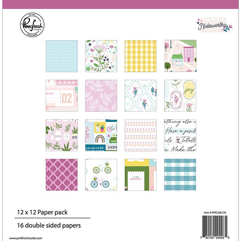 PinkFresh Studio Noteworthy 12x12 Collection Pack