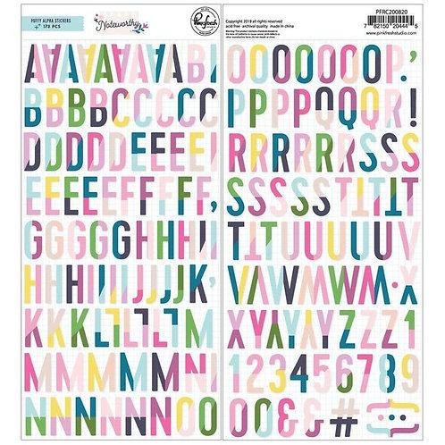 PinkFresh Studio Noteworthy Puffy Alpha Stickers