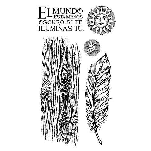 Stamperia - Cosmos - rubber stamps - feather