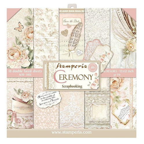 Stamperia - Ceremony - 12x12 papers