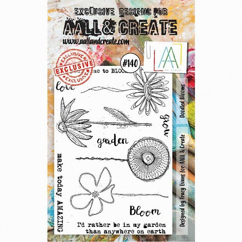 Stamp #140 - Doodled Blooms by Tracy Evans for Aall & Create