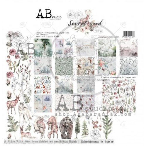 AB Studio - Secret Wood - 12x12 Paper Pack