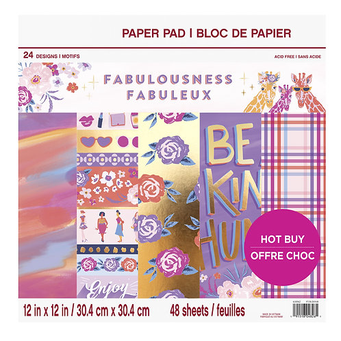 Craft Smith - Fabulousness - 12 x 12 Paper Pad