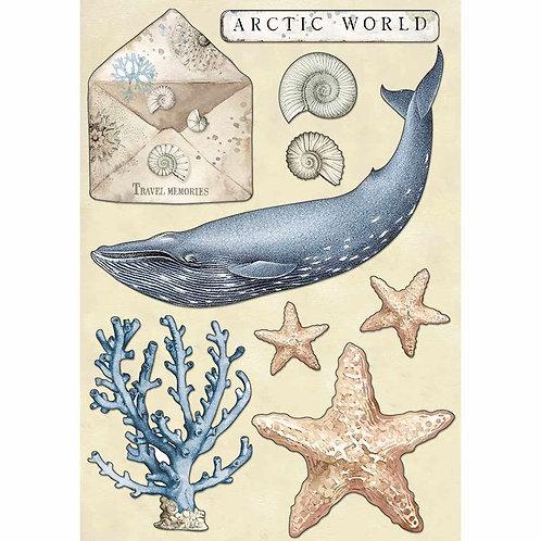 Stamperia Arctic Antarctic Wooden Die Cuts - Arctic World
