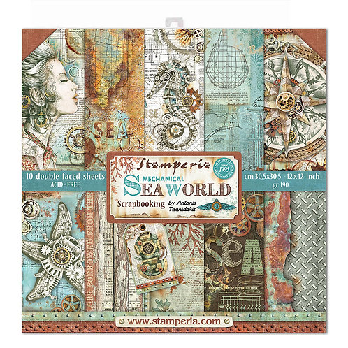 Stamperia - Mechanical Sea World - 12x12 Paper Pack