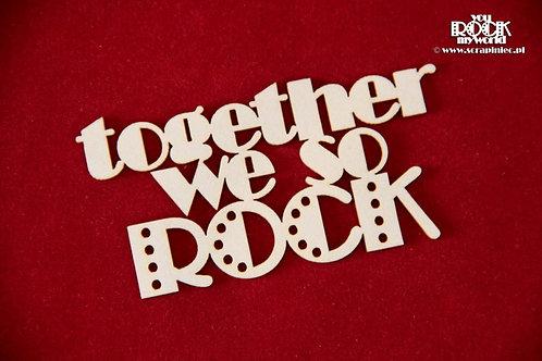 Scrapiniec - Together we So ROCK chipboard