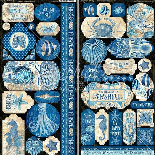 Graphic 45 - Ocean Blue - 6x12 Sticker Sheet