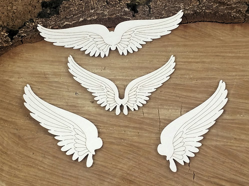 Scrapiniec - Steampunk - Flying Hearts - Set of Wings chipboard