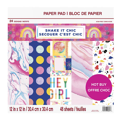 Craft Smith - Shake it Chic - 12 x 12 Paper Pad