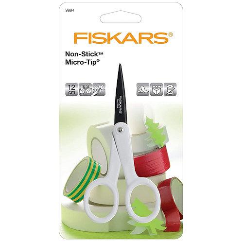 Fiskars Non Stick Micro Tip 12cm scissors