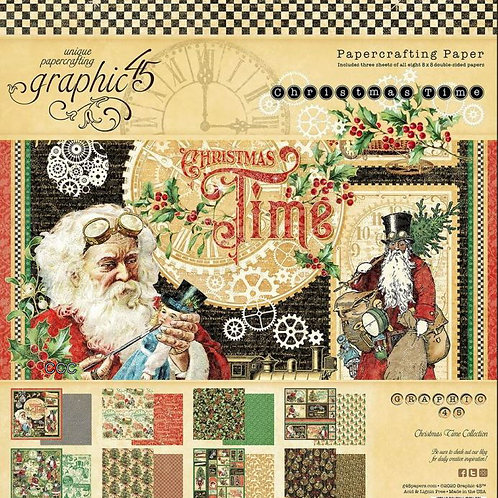 Graphic 45 Christmas Time 8x8 Collection Pad