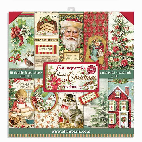 Stamperia - Classic Christmas - 12 x 12 Paper Pad