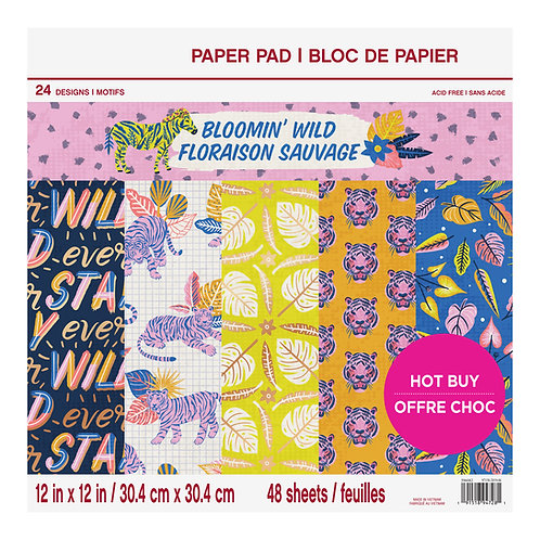 Craft Smith - Bloomin' Wild - 12x12 Collection Pad
