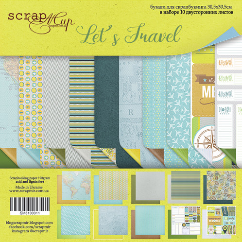 Travel Scrapbook Kit, Flair and Die Cut Pack
