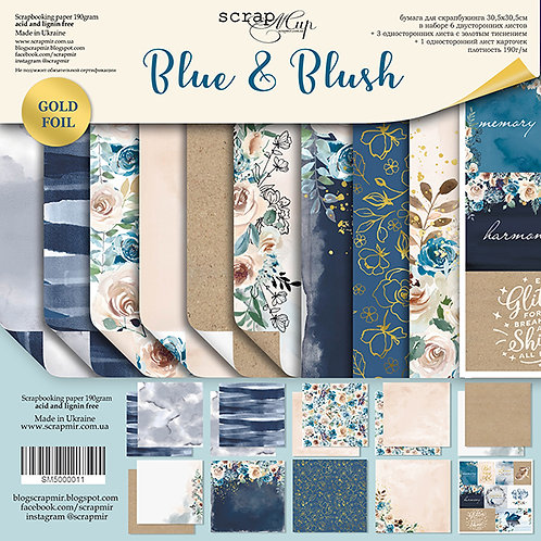 Scrapmir - Blue and Blush - Paper and Ephemera Bundle