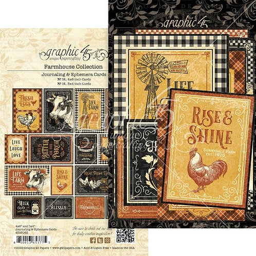 Graphic 45 - Farmhouse - Journaling Cards