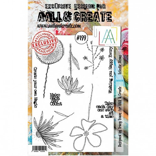 Aall &Create Stamp #199 - Eclectic Stems by Tracy Evans