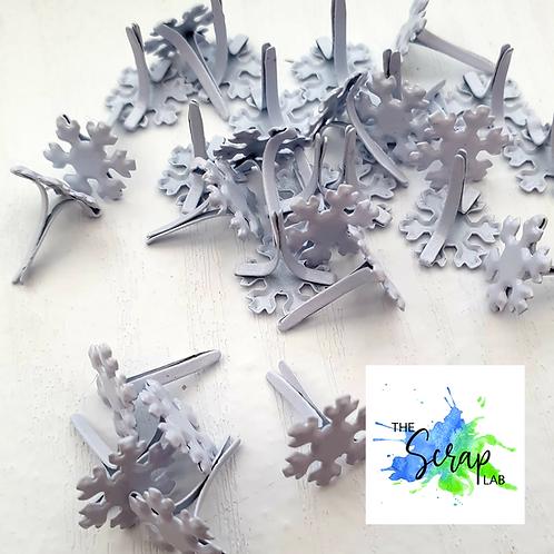The Scrap Lab - Snowflake Brads - Pack of 10