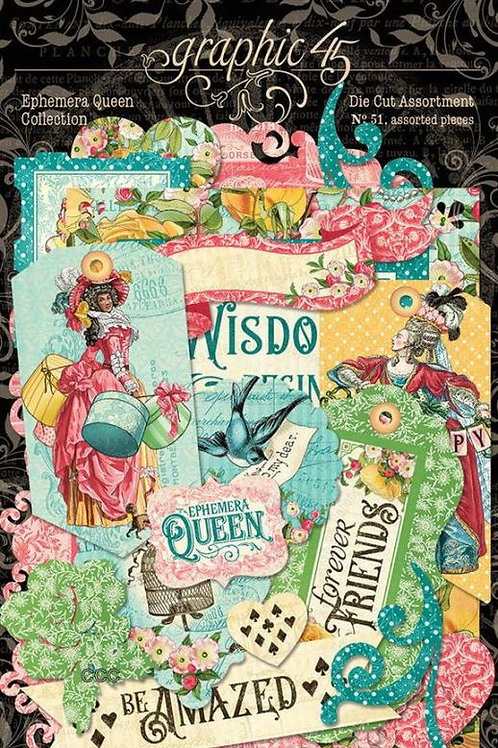 Graphic 45 Ephemera Queen Die Cut Assortment