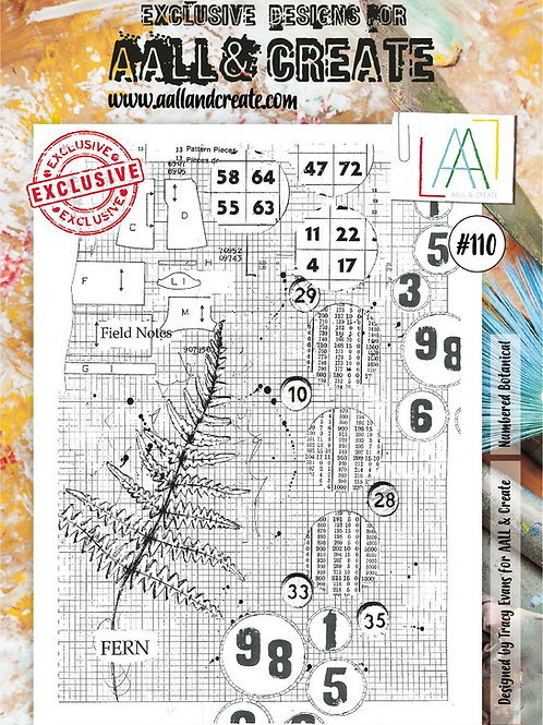 Stamp #110 Numbered Botanical by Tracy Evans for Aall & Create
