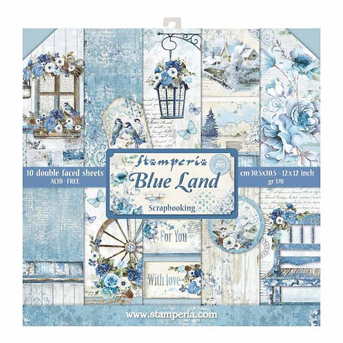 Stamperia 12x12 Collection Pack - Blue Land