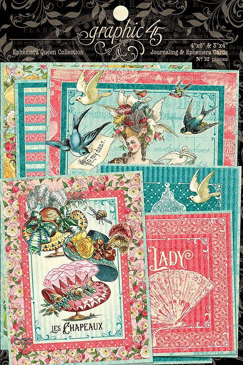 Graphic 45 Ephemera Queen Journaling Cards