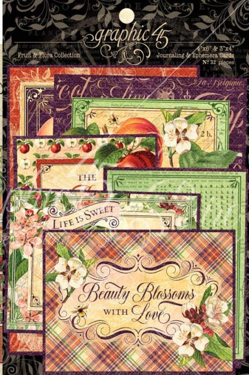 Graphic 45 Fruit and Flora Journaling Cards