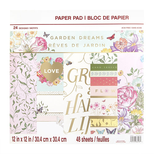 Craft Smith - Garden Dreams - 12 x 12 Paper Pad