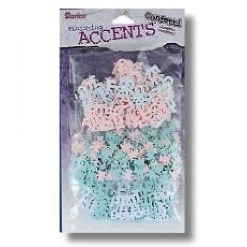 Darice Finishing Accents Confetti 3 Pack Baby