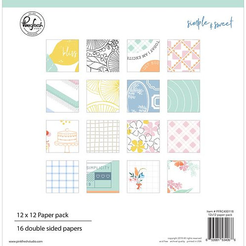 PinkFresh Studio - Simple & Sweet - 12x12 Collection Pad