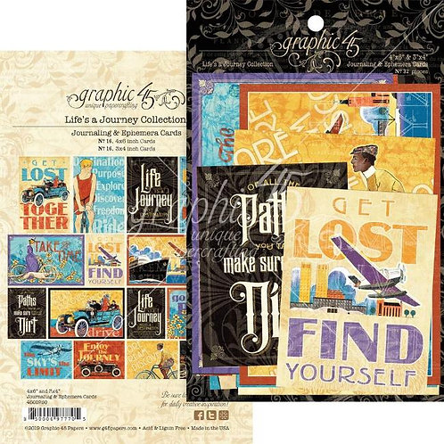 Graphic 45 - Life Journey - Journaling Cards