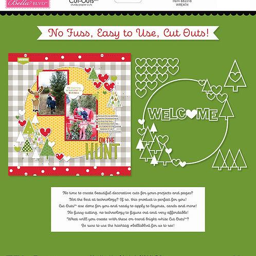 Bella Blvd - Cut Outs - Santa Squad Wreath