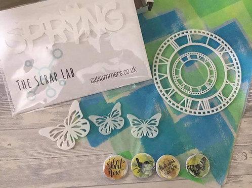 """Scrap Lab Embellish-Kit """"Spring Time"""""""