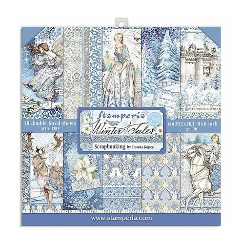 Stamperia Winter Tales 8x8 Collection pack